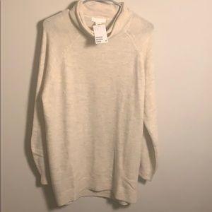 H&M Cream Turtleneck Sweater Dress sz S